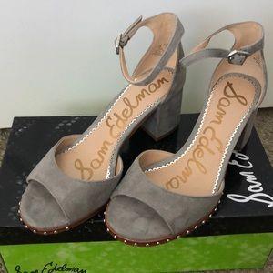 Sam Edelman Susie Suede Strap Sandal - Size 7 NEW